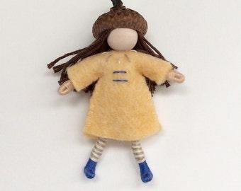 Little Acorn Girl -- Waldorf Inspired Doll