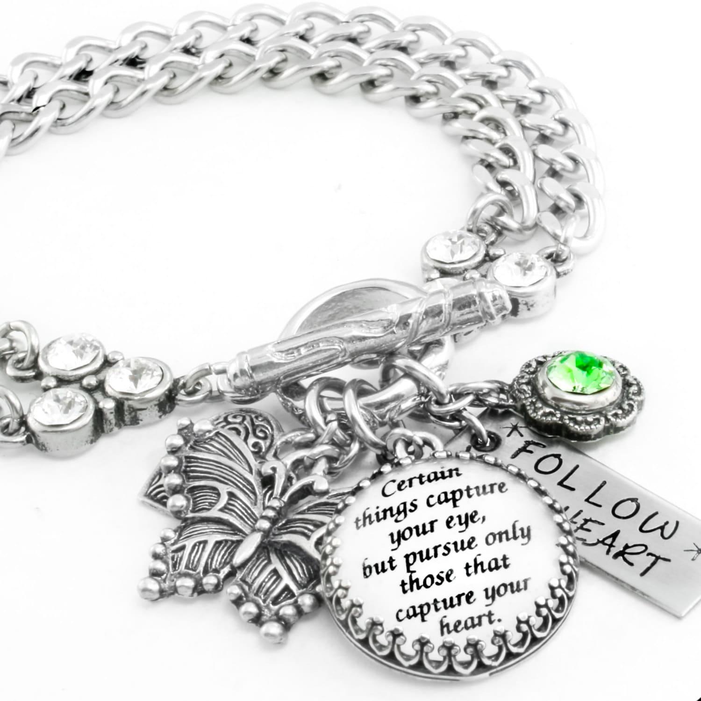 Inspirational Charm Bracelets: Inspirational Bracelet Silver Inspirational Jewelry Quote