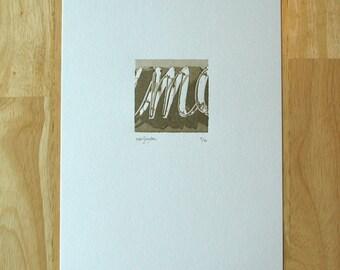 Letter M — Letterpress Print