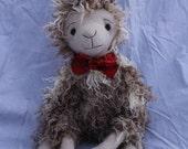 Fergus MacTavish, a Scottish llama, Stuffed animal for adoption