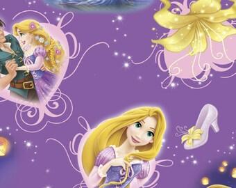 Disney's Rapunzel and Prince on purple, 1 yard