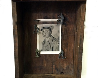 Antique Drawer Shelf with Soliders