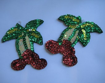 Ornaments, Old fashioned felt and sequinned Cherries