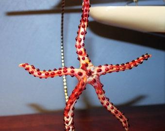 Red starfish ornament