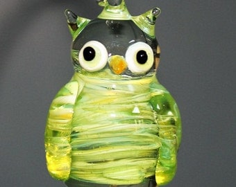 Lime green Owl ornament