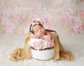 Pink and Gold Perfection Headband for girls newborn girl photo
