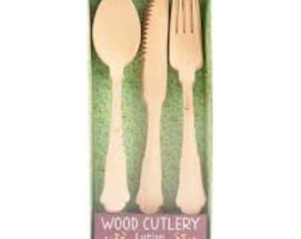 WOODEN UTENSILS -wooden cutlery