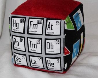 Mod Geek Chemistry Chenille Fabric Block Rattle
