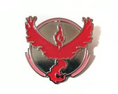 Team Valor Pokemon GO! Silver and Red Metal Lapel Pin Back Badge Pre-Order