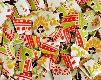 Mosaic Tiles-Summer Paisley- 100 Tiles