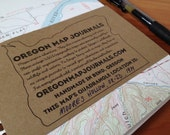 Vintage Oregon Map Journal