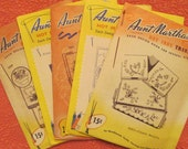 Vintage Aunt Marthas Hot Iron Transfers - Five Piece Assortment