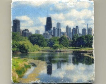 Lincoln Park Zoo Skyline - Original Coaster