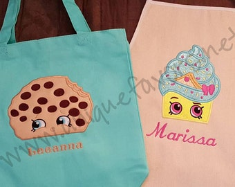Custom Shopkins Inspired Kids gear! Apron, Tote and more! Cute character designs! Great for Gifts!