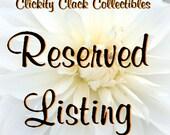 Reserved for ValerieSelmer: Peg Dolls