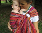 WCRS Ring Sling Girasol Wrap Conversion Zunil WCRS- Pleated Shoulder - DVD included, baby, toddler, baby shower gift