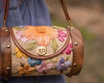 Vintage Floral Basket Case