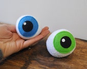 Catnip Eyeballs (Pair) cat toy catnip ball plush eye recycled materials