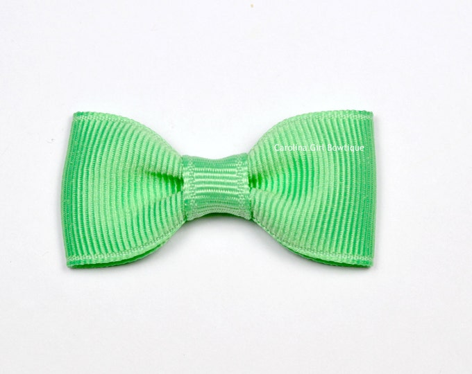 Mint Green Baby Hair Bow ~ 2 in. Bow with No Slip Grip ~ Small Hair Bows Newborns Toddler Girls