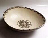 Doily bowl- Ceramic bowl- small bowl- pottery bowl