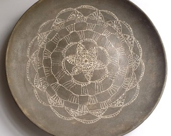 Doily plate- Serving plate, pottery plate