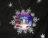 """Snowflake Disney Inside Out Group Image Holiday Image Christmas 2.25"""" Ornament"""