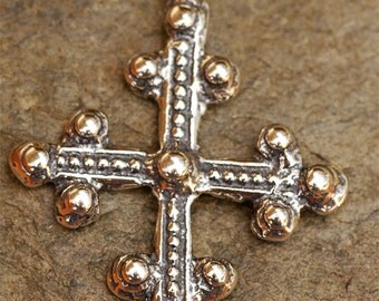Coptic Cross Sterling Silver Pendant, 113