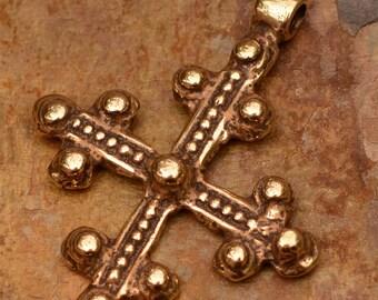 Coptic Cross in Gold Bronze 113br