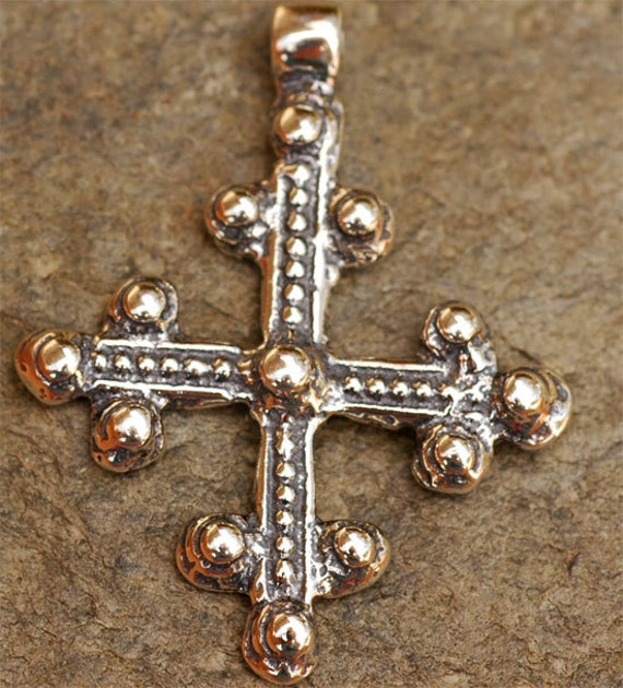 Coptic Cross Sterling Silver Pendant, 113