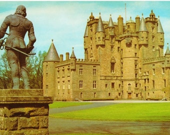 Vintage postcard, unused, Glamis Castle, Angus, Scotland, United Kingdom, 1979
