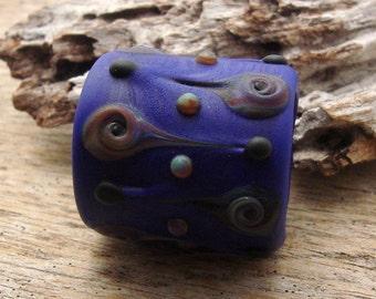 LARGE HOLE BEAD - Handmade Lampwork Large Hole Bead - 1 Bead