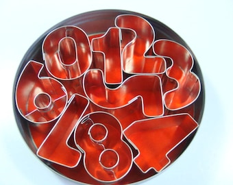 Mini Number Metal Cookie Cutter Set