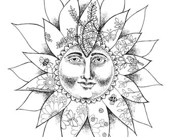 Coloring Page Sun Flower