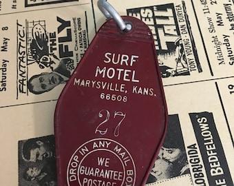 1970 Vintage Hotel Key Surf Motel Marysville, Kansas   Vintage  Key Fob