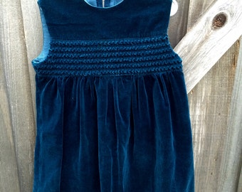 Blue Velvet Dress 6/7