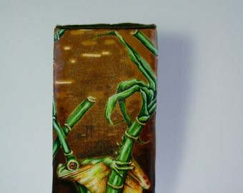 Frog & Bamboo Eyeglass Case