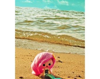 little mermaid print 5 x 7 SHORE AM CUTE