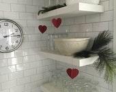 Paper Valentine Hanging Heart Decoration