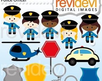 30% OFF SALE Police clipart - Police Officer Cliparts - Instant Download - Police man clip art - digital images