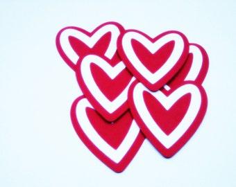 Heart Die Cuts-Heart Paper Die Cuts-Paper Hearts-Heart Confetti-Heart Invitations-Scrapbook Supplies-Invitation Supplies