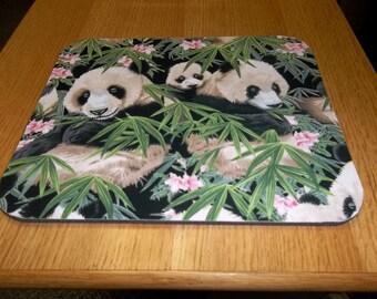 Panda's, Mouse Pad, Baby Panda's, Handmade, Gift, Office Decor, Desk Accessory, Rectangle, Mouse Pads, MousePad, Computer Mouse Pad, Mat
