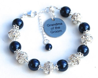 Grandma of the Groom Gift, Grandma of the Bride Bracelet, Wedding Grandma Gift, Grandma Wedding, Grandmother Wedding Gift, Under 50
