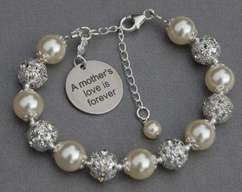 A Mothers Love Is Forever, Mothers Love Jewelry, Birthday Gift for Mom, Phrase Jewelry, Mother Daughter, Mothers Day Gift, Mom Jewelry,