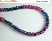 ON SALE Pink and Blue Mix Genuine Sapphire Precious Gemstone Faceted Rondelle Beads 5mm (12 gems)
