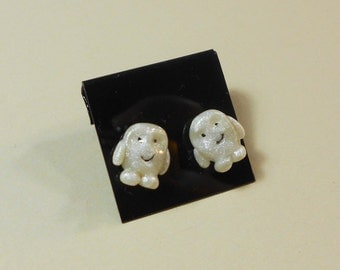 Doctor Who Adipose stud earrings post surgical steel polymer clay cute