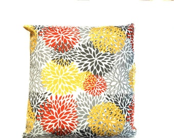 OUTDOOR Floral Bloom, Decorative Throw Pillow Cover -Choose Size - Premier Prints -Lumbar or Square One (1) Cover