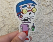 Milhouse Calavera Clear Die-cut Vinyl Sticker Day of the Dead