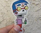 Milhouse Calavera Clear Die-cut Vinyl Sticker Day of the Dead