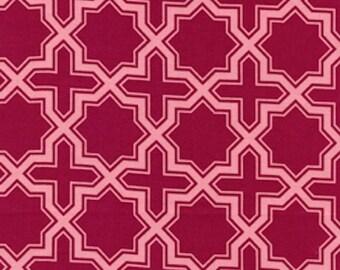 HALF YARD - Joel Dewberry Fabric - Modern Meadow, Napsack in Berry - SALE