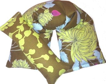 Hot Cold Therapy Wrap and Eye Pillow Heating Pad - Flaxseed Rice Mix - UNSCENTED OR SCENT